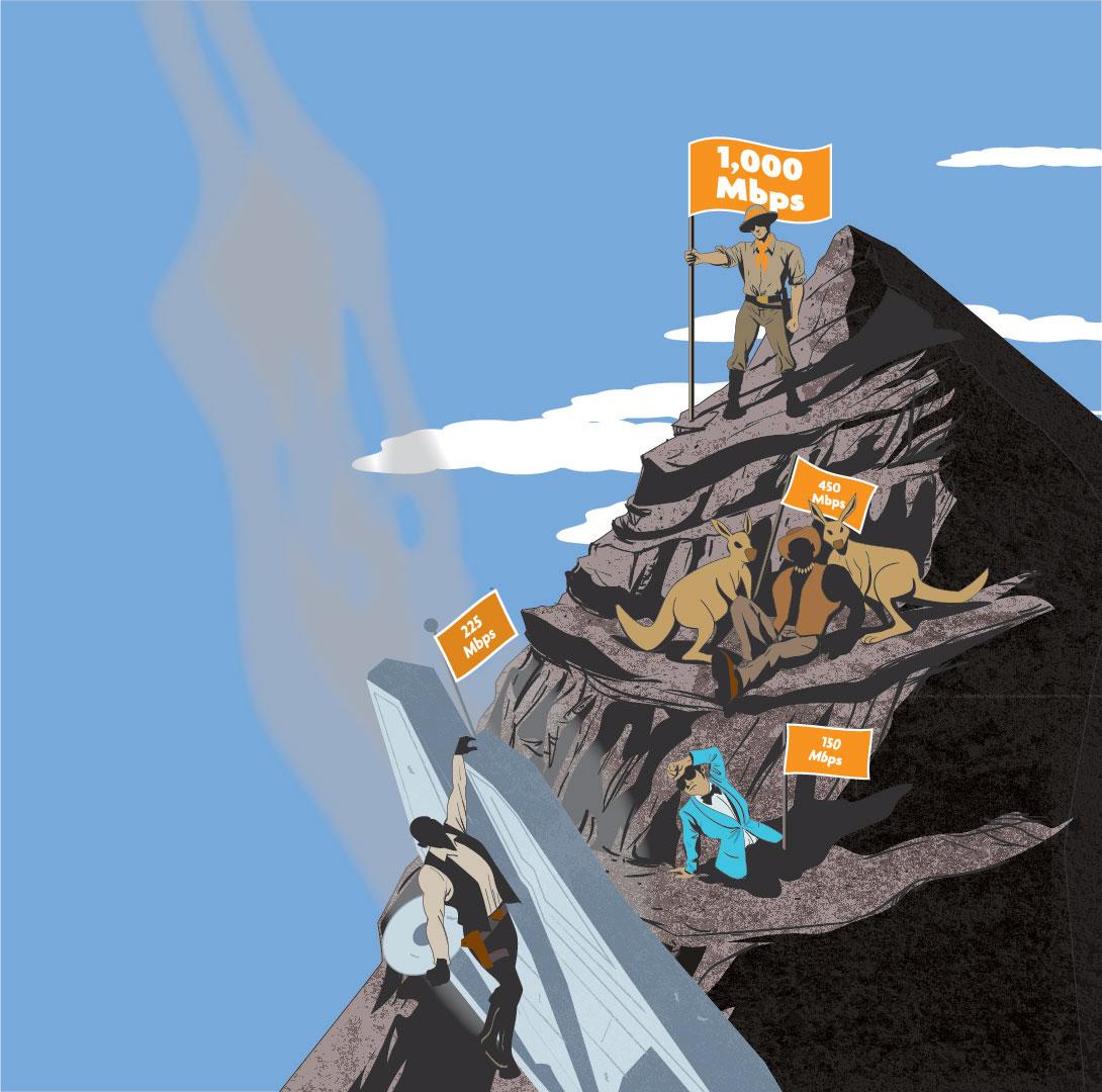 1 GBPS mountain