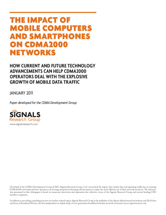 The Impact of Mobile Computers and Smartphones on CDMA 2000 Networks