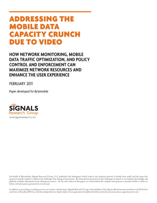 Addressing the Mobile Data Capacity Crunch Due To Video