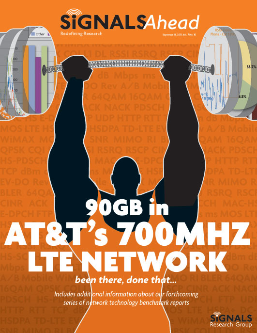 90GB in AT&T's 700MHZ LTE NETWORK