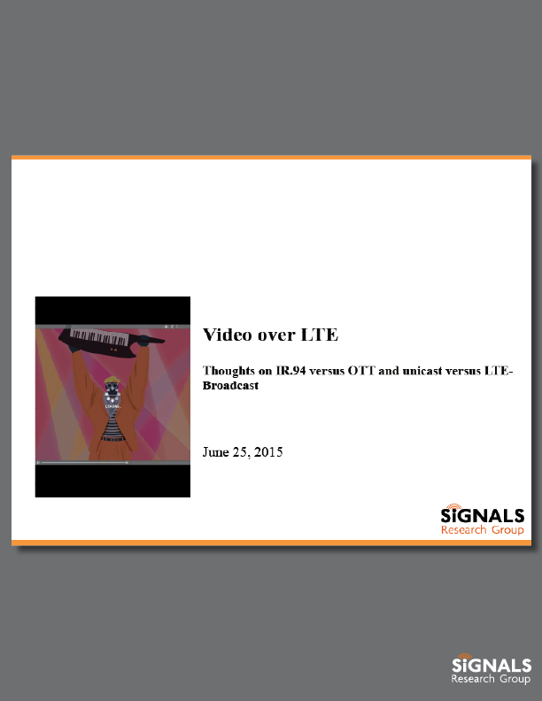 Video over LTE - SRG