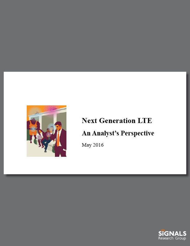 Next Generation LTE - An Analyst's Perspective