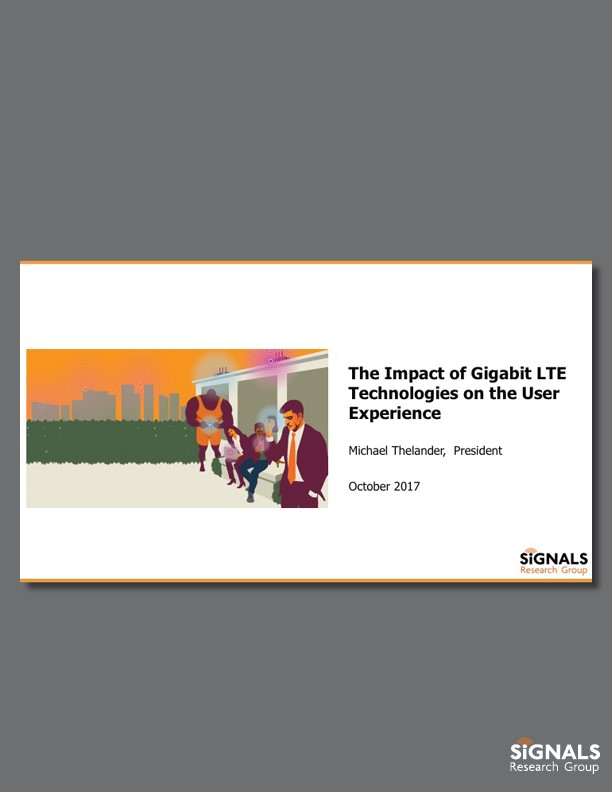 The Impact of Gigabit LTE Technologies on the User Experience